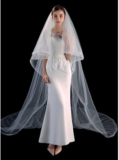 Two-tier Scalloped Edge Cathedral Bridal Veils