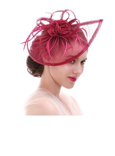 Ladies' Eye-catching Feather/Net Yarn With Feather Fascinators/Kentucky Derby Hats/Tea Party Hats