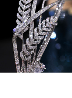 Elegant Alloy/Silver Plated With Rhinestone