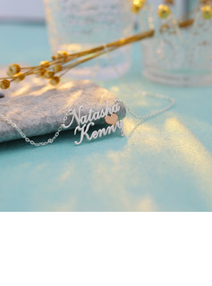 Custom Name Name Necklace With Heart - Birthday Gifts