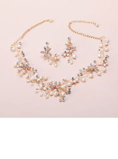 Elegant Rhinestones/Imitation Pearls Ladies' Jewelry Sets