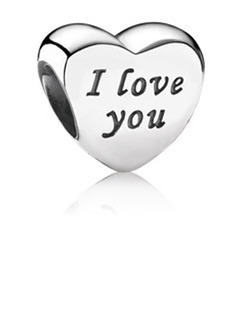 Heart Charms With I Love You - Valentines Gifts