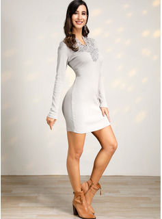 evening wear dresses with sleeves