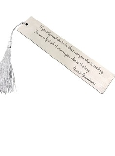 Personalized Stainless Steel Bookmarks With Tassel