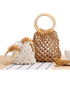 Lovely Cotton Top Handle Bags