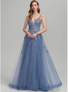 blue dress sheer neckline