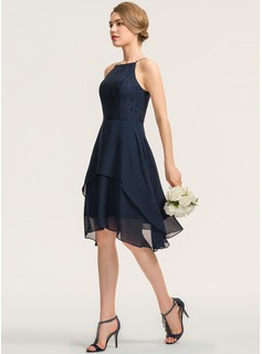 simple navy long dresses
