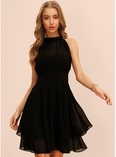 A-Line Scoop Neck Knee-Length Cocktail Dress