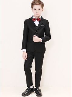 Boys 5 Pieces Classic Ring Bearer Suits /Page Boy Suits With Jacket Shirt Vest Pants Bow Tie