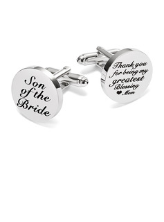 Personalized Formal Mens Stainless Steel Cufflinks