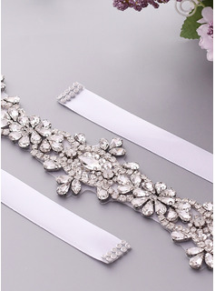 rhinestone dress sash gold