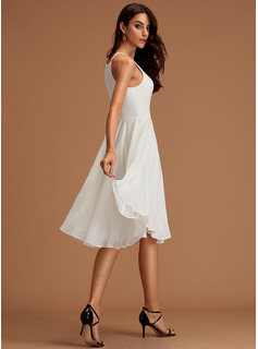 chiffon one shoulder evening dress