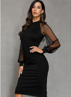 fitted lace dress long sleeve