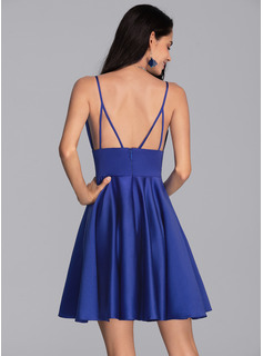 blue strapless fitted prom dress