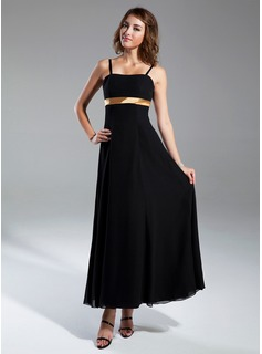 Empire Sweetheart Ankle-Length Chiffon Bridesmaid Dress With Sash Bow(s)