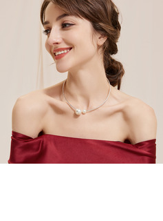 Ladies' Elegant Alloy/Rhinestones/Imitation Pearls Necklaces