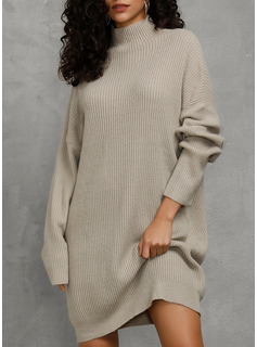 grey long sleeve cocktail dress