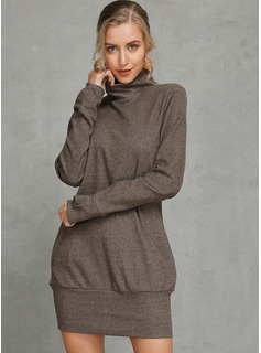 Polyester/Cotton Above Knee Dress