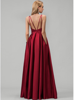 red one sleeve prom dress