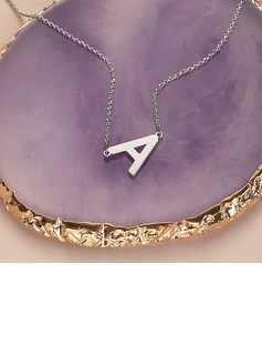 Custom Sterling Silver Letter Sideways Initial Necklace - Birthday Gifts Mother's Day Gifts