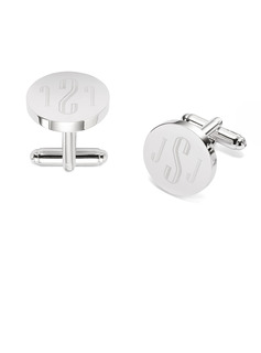 Personalized Modern Formal Mens Stainless Steel Cufflinks