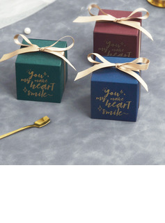 Elegant Pearl Paper Favor Boxes & Containers (Set of 20)