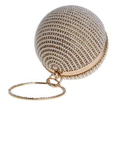 Charming Crystal/ Rhinestone/PU Clutches/Top Handle Bags