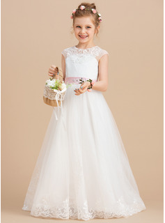 pink tulle flower girl dresses