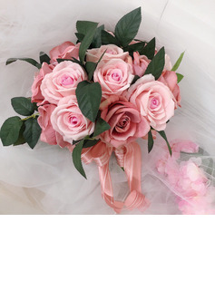 Girly Hand-tied Ribbon/Artificial Flower Bridal Bouquets (Sold in a single piece) - Bridal Bouquets
