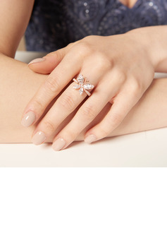 Butterfly Marquise Cut 925 Silver Promise Rings