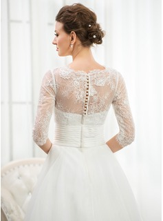 flower tulle wedding dress