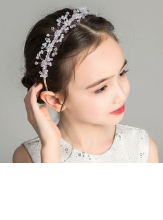 Alloy/Crystal With Flower Headbands (Sold in a single piece)