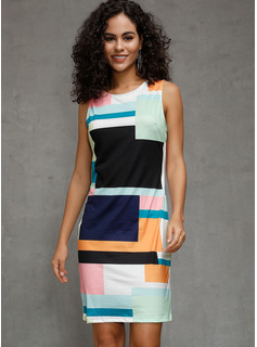 Polyester/Spandex Above Knee Dress