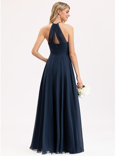 chiffon high low dress strapless
