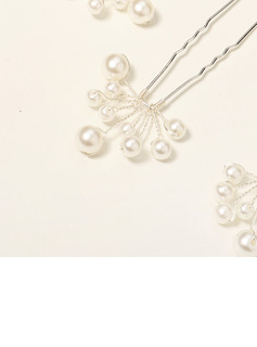 Elegant Imitation Pearls Hairpins With Pearl