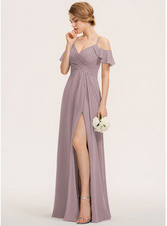 floral chiffon wedding dresses