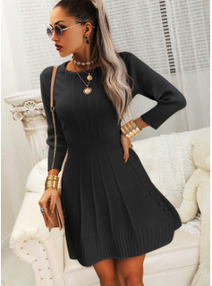 short puffy long sleeve dresses