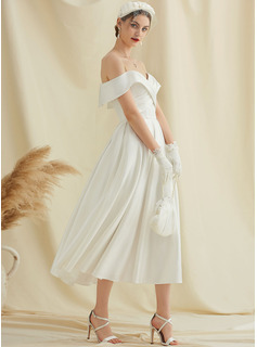 long white satin dress