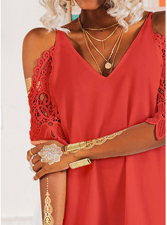 red long sleeve formal dress