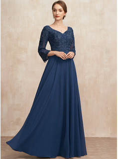 evening dresses with 3/4 sleeves