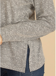 Manches longues Polyester Col V Tricot Blouses