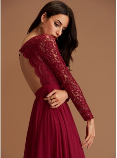 Burgundy V-Neck Maxi Maxi Dresses