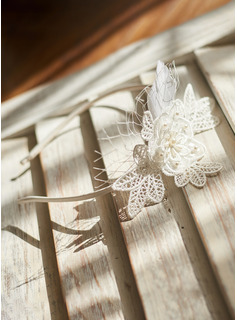 Lace With Imitation Pearls Headbands