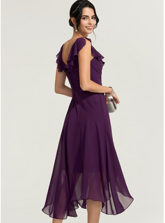 chiffon short dress bridesmaid