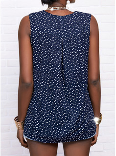 Regular Fitted Print Casual Sleeveless