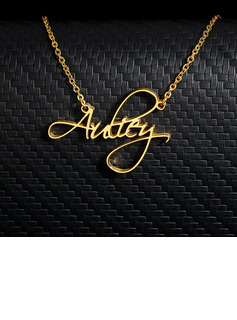 18k Gold Plated Name Name Necklace -