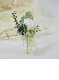 Hand-tied Silk Flower Boutonniere (Sold in a single piece) -