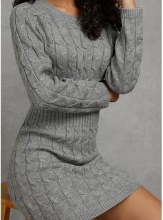 super short sweater dress