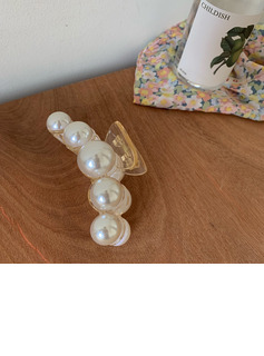 Elegant Alloy/Acrylic/Pearls Hairpins