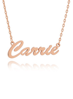 Custom 18k Rose Gold Plated Signature Cursive Name Necklace - Birthday Gifts Mother's Day Gifts